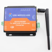 USR IoT RS232 / RS485 Serial Wireless Server, Serial to WiFi and Ethernet Converter thumbnail image