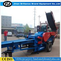 High efficient drum type wood chipper,evenly stratified cutting