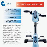 New Active Passive Trainer Motor Fit 15 Level Rehab Exercise Bike