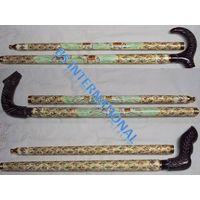 Real Horn & Bone Walking Stick