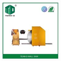Hydraulic wall saw machine for cutting reinforced concrete slabs and floor