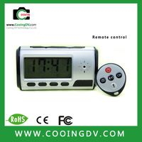 telecontrol desk clock camera with motion detection