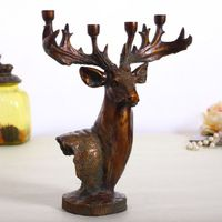 Classic retrodeer resin Ornaments deer head candle holder