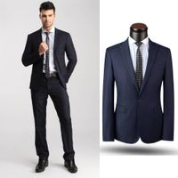 100% wool suits men wedding quality made to measure suits double breasted suit thumbnail image