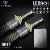 Energy saving 9600lm 80w led headlight replace 9012 halogen lamp bulb with 12v 55w 70w 100w