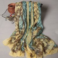 women fashion custom silk scarf