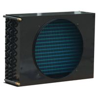 Industrial refrigeration air cooled condensers