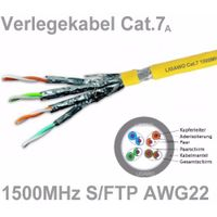4 pair 23AWG Duplex FFTP Cat7 Network Cable With LSZH Jacket Passes RoHS REACH Certificated