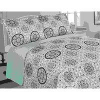 print quilted bedspread hj home fashion