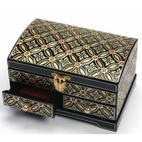 Tow-tiered Craft Jewelry Box with Apricot Pattern in South Korea
