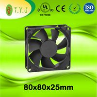 2017 New 8025mm 5v/12v/24v/36v/48v water cooler fan ac
