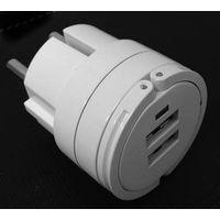 5V 2.1A twin USB port Eu plug travel charger for iPad/iPhone/iPod thumbnail image