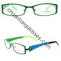 Stainless Steel Square Frame First Grade Double Plating Optical Glasses Unisex Style Engraving Flowe