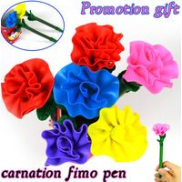 Polymer clay carnation pen cheap pen