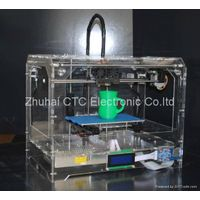 CTC Mercury 3D Printer(transparent casing)desktop dual-nozzle Dual extruder