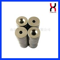 NdFeB countersunk Magnets,powerful rare earth sintered ring magnets