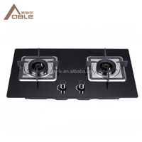 Glass Cooktop Gas Cooker Cooktop Part Glass Double Burner Gas Stove Infrared Burner thumbnail image