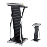 K-020 Stainless Steel Hotel Rostrum With Leather Cover