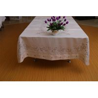 Handmade Cut Work Satin Embroidery Table Cloth