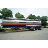 3 Axle 42000 Liters Aluminum Alloy Semi Tanker Trailer Aviation Kerosene Transport thumbnail image
