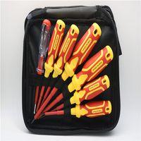 Zhibo Electrical Insulation Screwdriver Set 7PCS 3X75mm 4X100mm 5X125mm 6X150mm Dual-Purpose Test P