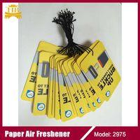 Hanging paper air freshener