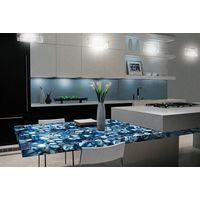 Blue agate slab natural gemstone countertop