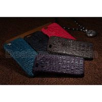 Crocodile Grain Cow Genuine Real Leather Housing Case Cover for iPhone 6 Plus