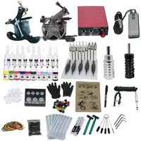 High Quality Complete Tattoo Kit With 2 Tattoo Guns Machine Power Supply Foot Pedal thumbnail image