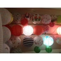 supply chinese tranditional round shaped paper lanterns for decoration thumbnail image