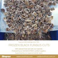 IQF Black Fungus Cuts/Frozen Black Fungus Cuts/IQF Mushrooms thumbnail image