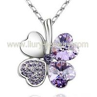 Crystal Clover Necklaces