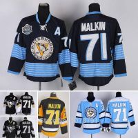 Wholesale Top Quality NHL #71 Evgeni Malkin Pittsburgh Penguins Ice Hockey Authentic Jerseys All Sti