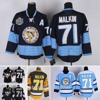 Wholesale Top Quality NHL #71 Evgeni Malkin Pittsburgh Penguins Ice Hockey Authentic Jerseys All Sti thumbnail image