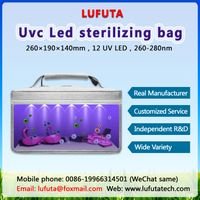 UV Light Sanitizer Bag, UVC Cleaner Disinfection Lamp, Portable USB Rechargeable Box for Phone Cloth
