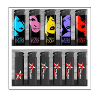 Hot sale disposable electronic lighter Plastic Butane Gas explosion proof Lighter for Cigarette
