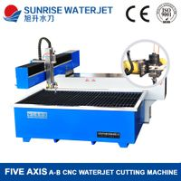 5 axis waterjet cutting machine for marble/ granite/tile/ mosaic
