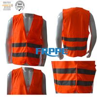 High Vis Safety FR Vest/Protective orange clothing/summer vest