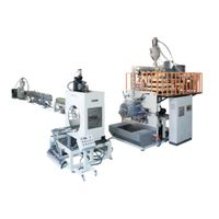 Sewage pipe extrusion line