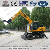 Baoding BD95-9 wheel drive wood grasping excavators