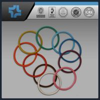 colorful round plastic PTFE teflon rings of any sizes