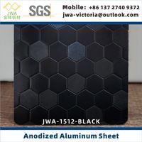 Black Embossed Finish Anodized Aluminum Sheet, Coil Anodizing Aluminum For Interior Decoration thumbnail image