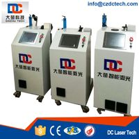 Portable Fiber Laser Marking Machine printing for Plastic single-pipe extrusion line with cover 20BW