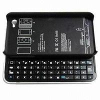 Slide-out Physical Bluetooth Keyboard with Case, 1.2mA Standby Current, Used for iPhone 4/4S