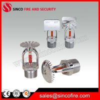 Standard response chrome finished fire sprinkler for fire fighting system