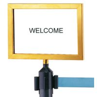 Stanchion Sign Holder for Chrome Stanchion with Metal Materials thumbnail image