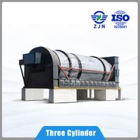 Hot sale triple cyclinder industrial use good price for Sewage Sludge Drying