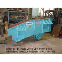 USED KOBE ALLIS-CHALMERS VFG TYPE 3' X 8' VIBRATING GRIZZLY FEEDER S/NO. 14-1069 WITH MOTOR thumbnail image