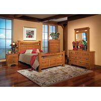 Elegant wooden bed