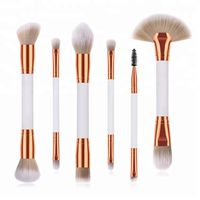 6PCS Double End Makeup Brush Set with Two Color Synthetic Hair thumbnail image